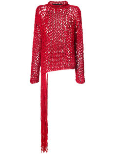 fringed knitted sweater Isabel Benenato