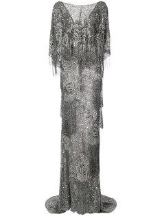 расшитое пайетками вечернее платье Marchesa
