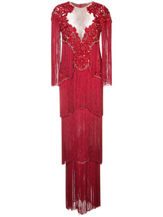 кружевное платье с вышивкой Marchesa