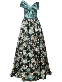 жаккардовое вечернее платье Marchesa