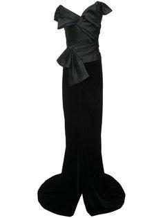 платье структурированного кроя с бантом  Marchesa