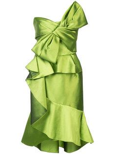 платье с крупным декоративным бантом Marchesa