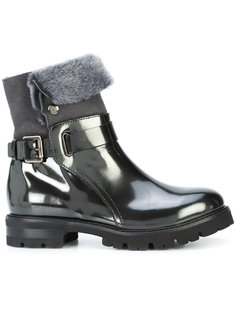 лакированные ботинки с меховой отделкой Agl