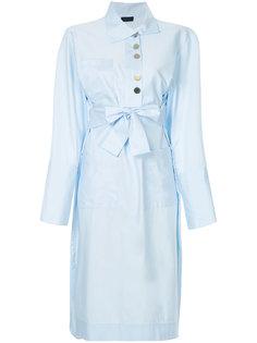 платье-рубашка с поясом на талии Eudon Choi
