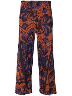укороченные брюки с принтом  Circus Hotel