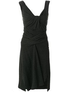 платье с драпированной перекрученной деталью Isabel Marant