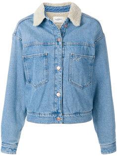 джинсовая куртка с воротником с меховой отделкой Isabel Marant Étoile