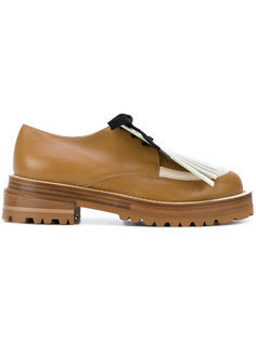 туфли оксфорды с бахромой Marni