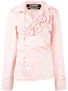 асимметричная рубашка с рюшами Jacquemus