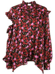 блузка с открытыми плечами и цветочным узором Forli Magda Butrym