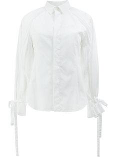 рубашка с завязками на рукавах  Facetasm