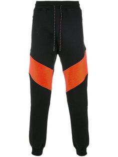 спортивные брюки с контрастными панелями Diesel