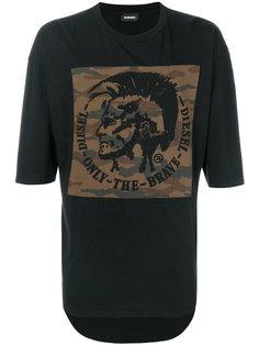 футболка с камуфляжной нашивкой Diesel