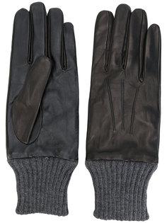 перчатки с манжетами в рубчик Diesel