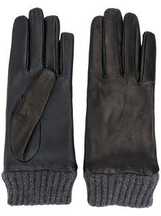 перчатки с деталями в рубчик Diesel