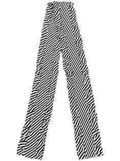 полосатый шарф с рюшами по краям Magda Butrym