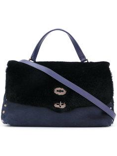 сумка-тоут с меховой панелью Zanellato