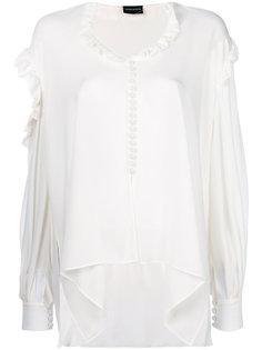 расклешенная блузка с вырезами Magda Butrym