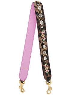 лямка на сумку с леопардовым прином  Dolce & Gabbana
