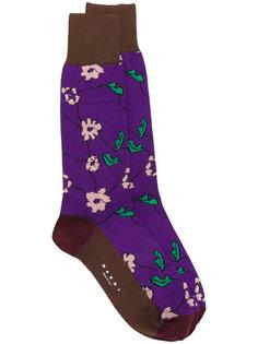носки с цветочным узором  Marni