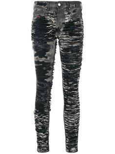 состаренные джинсы скинни  Diesel