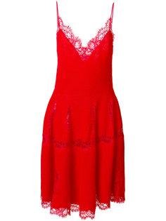 трикотажное платье с кружевной отделкой  Givenchy