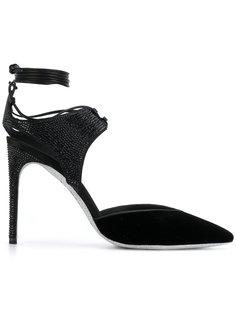 туфли-лодочки со шнурком на щиколотке René Caovilla