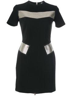 платье-миди с металлическими панелями Versus
