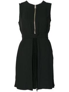 платье с молнией и плиссировкой  Versus