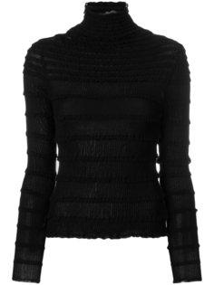 свитер-водолазка с оборкой  Valentino
