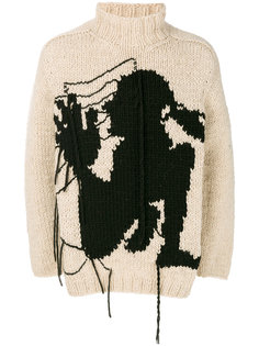 свитер с вышивкой Yohji Yamamoto