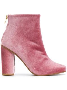 velvet ankle boots  Stine Goya