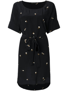 bee print belt dress  Stine Goya