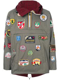 куртка с нашивками DSQUARED2 x K-Way Dsquared2