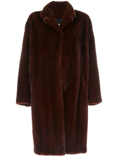свободное пальто из меха норки  Sprung Frères
