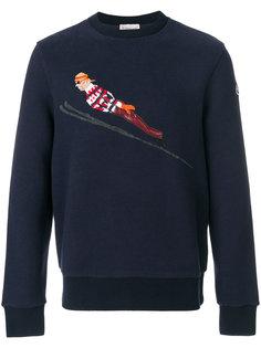 толстовка с вышивкой лыжника Moncler