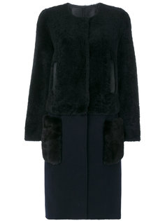 пальто со съемным подолом Yves Salomon
