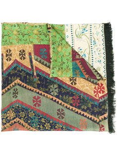 шарф с контрастным узором Pierre-Louis Mascia