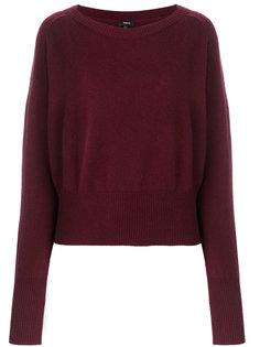 свободный пуловер с вырезом лодочкой  Theory