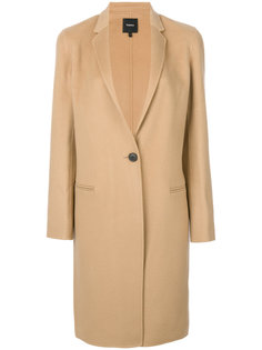 однобортное пальто Theory