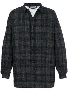 пальто в шотландскую клетку Raf Simons
