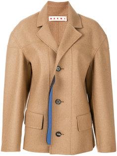 однобортное пальто  Marni