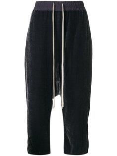 брюки с заниженным шаговым швом и шнурком  Rick Owens