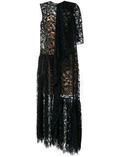 асимметричное платье из кружева Stella McCartney