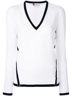 свитер с контрастной окантовкой Lanvin