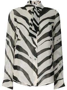 рубашка с зебровым принтом Lanvin
