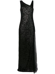 платье с пайетками Lanvin