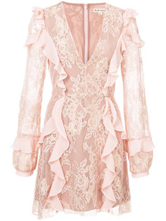 v-neck ruffle lace dress For Love And Lemons