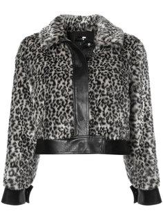 укороченная куртка с леопардовым принтом Mother