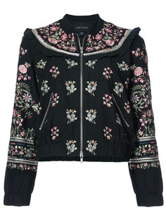floral embroidered bomber jacket Needle & Thread